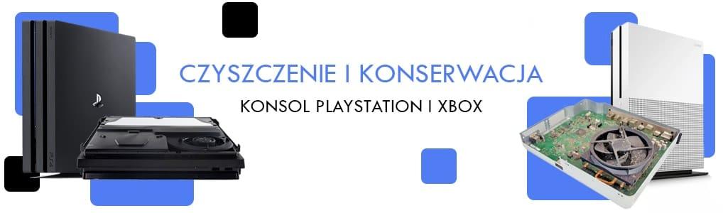 czyszczenie konsoli PS4 XBOX